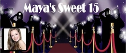 Q12CW - Hollywood Theme Quinceanera Chocolate Bars