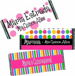 Quinceanera Candy Bar Wrapper and Favors