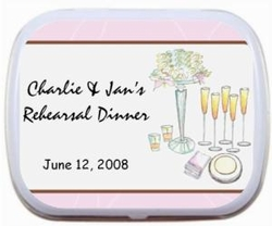 Rehearsal Dinner Personalized Mint Tins