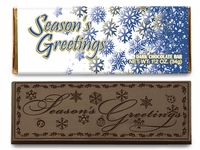Season's Greetings Belgian Dark Chocolate Candy Bar - (Case of 50)