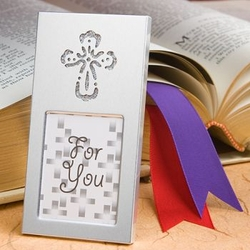 Silver Cross Picture Frame