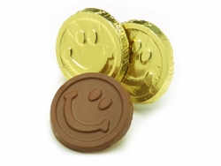 Smiley Face Chocolate Coins