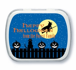 Spooky Halloween Night Mint Tin Favors
