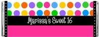 SS-02CW - COOL DOTS Sweet 16 Candy Bar Wrapper