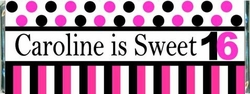 SS-16CW Dots & Stripes Sweet Sixteen Candy Bars
