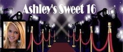 SS-33CW HOLLYWOOD Themed Sweet 16 Candy Bars