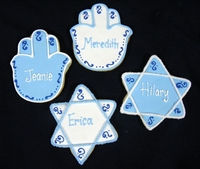 Star of David and Hamsa Cookie Favors