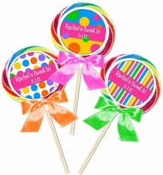Sweet 16 Swirl Lollipop Favors