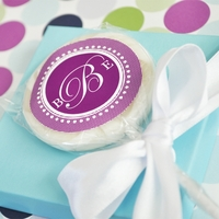 Sweet Monogram Personalized Lollipops