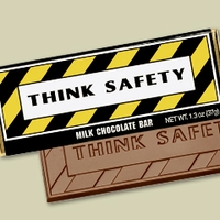 """Think Safety"" Candy Bars and Wrappers (case of 50)"