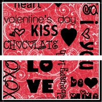 VAL14 - Graffiti Valentine's Day Candy Bar Wrappers