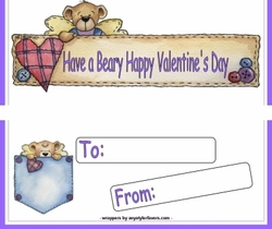 VAL13 - Valentine Bear Candy Bars