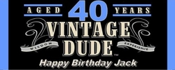 WB-33CW Vintage Dude 40th Birthday Candy Bar Wrappers