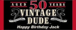 WB-34CW Vintage Dude 50th Birthday Candy Bar Wrappers