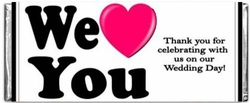 WED-11CW WE LOVE YOU! Wedding Candy Bars