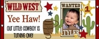 Western Themed 1st Birthday Candy Bars
