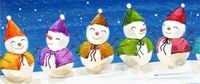 X07 - Snowman Holiday Candy Bar Wrappers