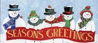 X09 - Snowman Seasons Greetings Candy Bar Wrappers