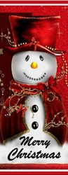 X26 - Happy Snowman Candy Bar Wrappers