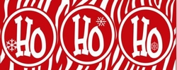 X18 - Funky Red Holiday Candy Bar Wrappers