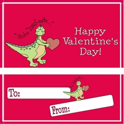 VAL08 - You're DINO-mite Valentine Candy Bar and Wrapper