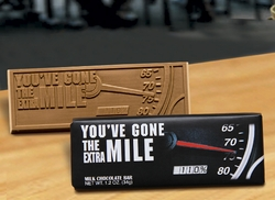 You've Gone the Extra Mile Belgian Milk Chocolate Bar (case of 50)