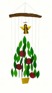 Angel Christmas Tree Glass Chime
