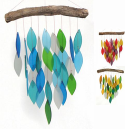 Blue-Green Waterfall Glass Wind Chime
