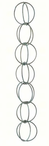 Double Link Rain Chain 8.5 ft Blue Verde Copper