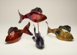 Copper Fish Sculptures/Stakes