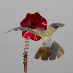 Copper Hummingbird Garden Stake