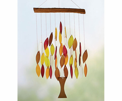 Fall Colors Tree of Life Glass Wind Chime