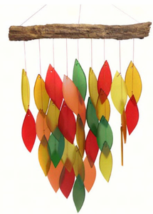 Fall Waterfall Glass Wind Chime