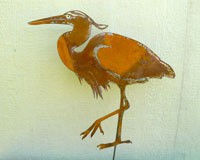 Great Blue Heron  Bird Steel Silhouette- 2 Sizes Available