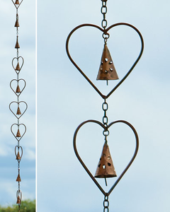 Heart  with Bell Rain Chain