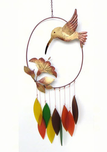 Hummingbird Glass Chime