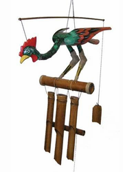 Lucky Bamboo Rooster   Wind Chime