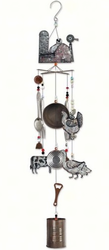 Metal Barnyard Wind Chime- 43 Inch
