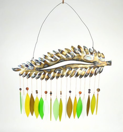 Metal Fern Glass Wind Chime