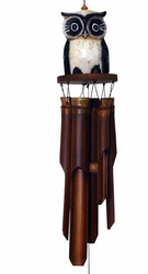 Owl Bamboo Wind Chime by Cohasset