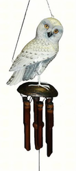 Snowy Owl Bamboo Wind Chime