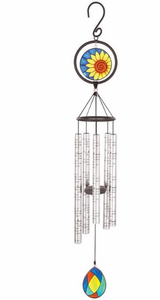 Memories Left 35 inch Stained Glass Sonnet Windchime