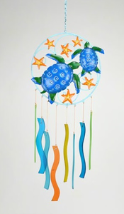 Turtles & Starfish Glass Chime