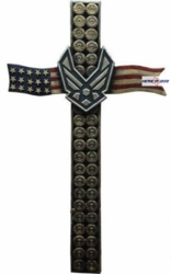 Air Force Bullet United States Flag Cross