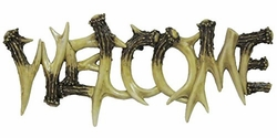 """Antler """"Welcome"""" Wall Decor"""