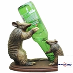 Armadillo with Baby Wine Holder