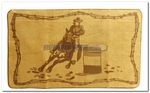 Barrel Racing Light Brown Bath or Kitchen Mat