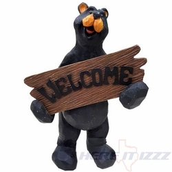 """Black Bear  """"Welcome"""" Sign Decoration"""