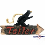 Black Bear Toilet Sign