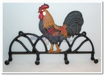 Country Rooster Wall Coat Hook